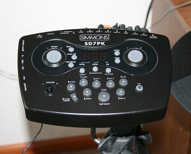 simmons sd7pk electronic drum set reverb. Black Bedroom Furniture Sets. Home Design Ideas