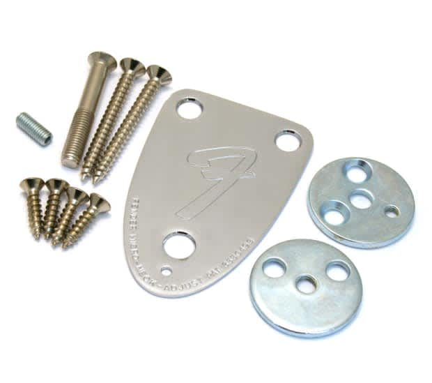 fender usa 3 bolt neck plate kit for 70s telecaster reverb. Black Bedroom Furniture Sets. Home Design Ideas