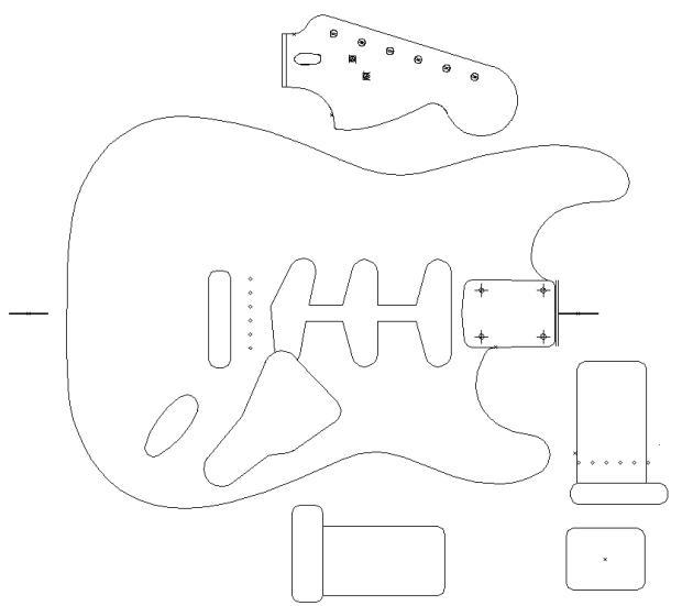 Stratocaster Design Template
