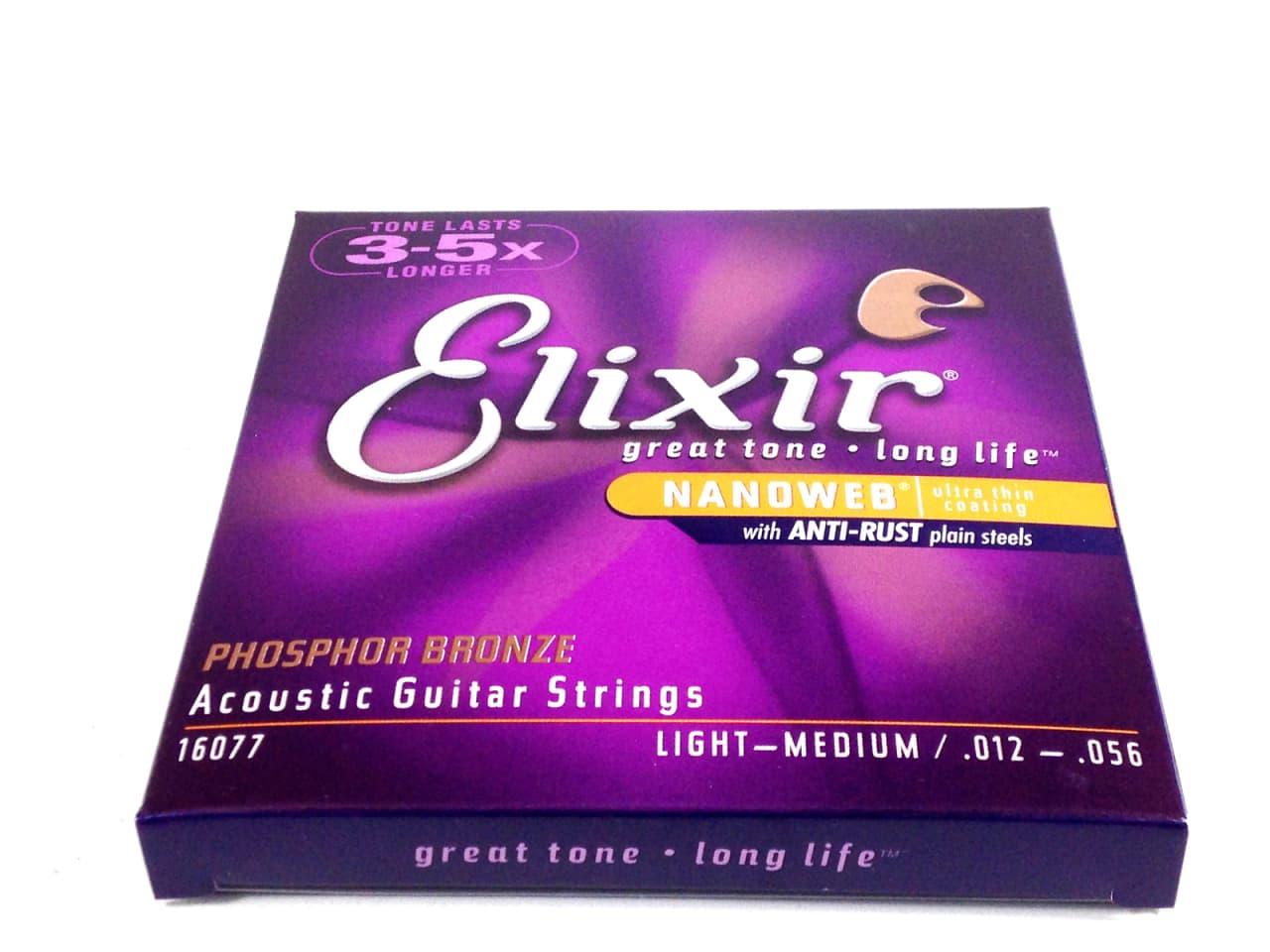 elixir guitar strings phosphor bronze nanoweb light. Black Bedroom Furniture Sets. Home Design Ideas