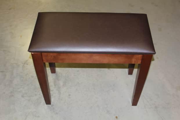 Jansen J450 Digital Piano Bench W Storage Vinyl Walnut