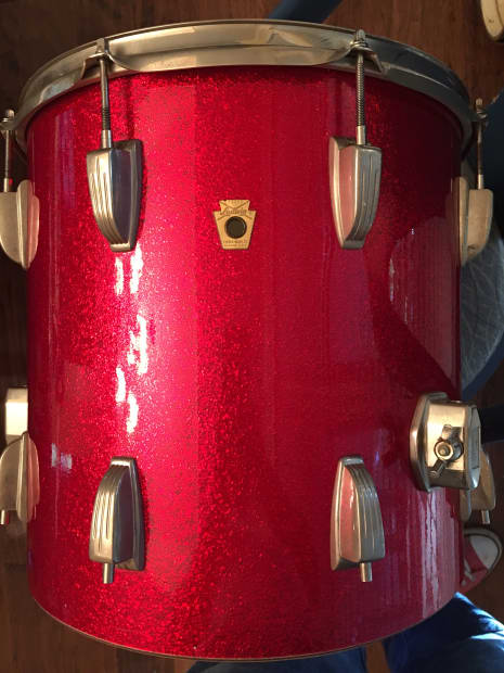 Ludwig classic red sparkle floor tom 14x14 downbeat for 14x14 floor tom