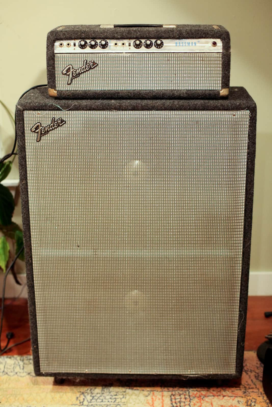 1968 Fender Bassman Head And Cabinet Reverb