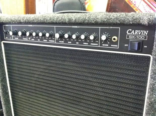 carvin electric guitar amplifier sx 100 gray reverb. Black Bedroom Furniture Sets. Home Design Ideas