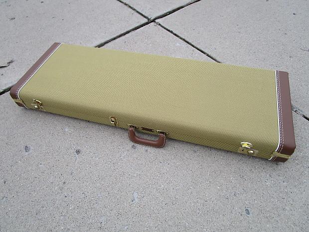 fender tweed custom shop stratocaster telecaster hard case reverb. Black Bedroom Furniture Sets. Home Design Ideas
