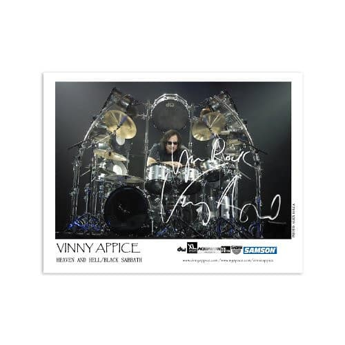 Vinny Appice Heaven & Hell Autographed 2009 Mini Poster ...