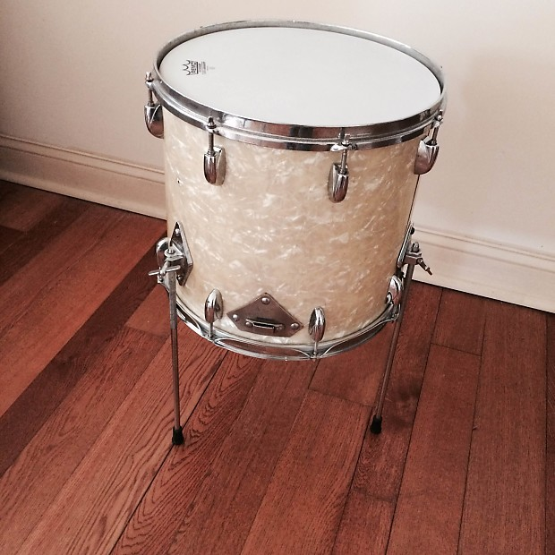 Gretsch 14 floor tom white marine pearl conversion from for 13 floor tom