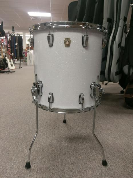Ludwig classic maple 16x16 floor tom sparkle white reverb for 16 x 16 floor tom