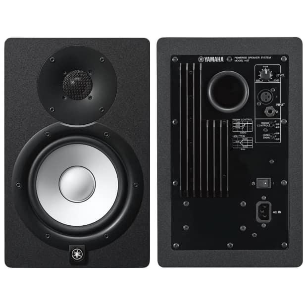 Yamaha hs7 100 watt series monitor black 2 pack bundle for Yamaha studio subwoofer