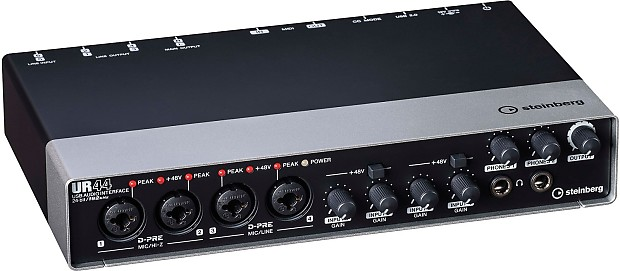 steinberg ur44 audio interface with cubase pro 8 retail daw reverb. Black Bedroom Furniture Sets. Home Design Ideas