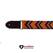 Souldier Strap with Rubber Ends - Nomad with Burgundy Ends image