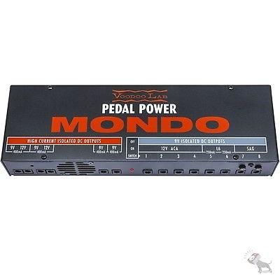 Voodoo Lab Pedal Power MONDO 9V 12V DC Effect Pedal Large Power Supply