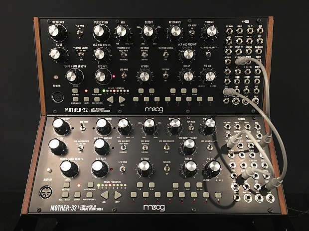 moog mother 32 2x w 3 tier stand 19 patch cables reverb. Black Bedroom Furniture Sets. Home Design Ideas