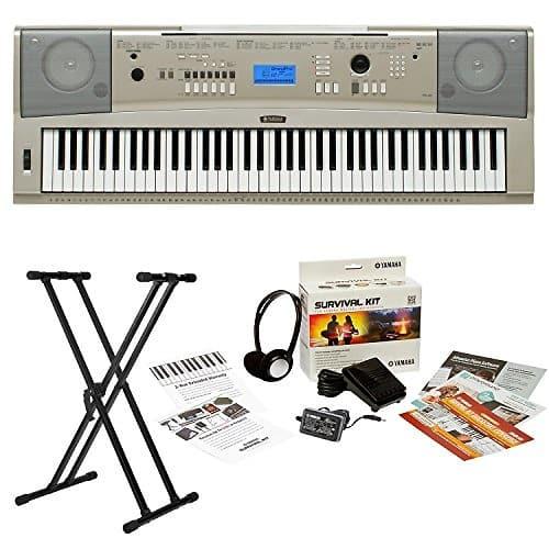 Yamaha ypg 235 76 key portable keyboard 3 piece bundle for Yamaha ypg 235 keyboard
