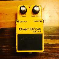Boss OD-1 Over Drive 1980 Silver Screw MIJ Japan