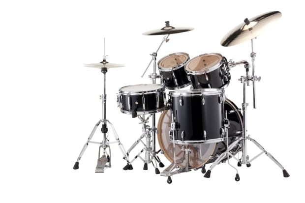 Pearl session studio classic piano black drum set free gig for 16x14 floor tom