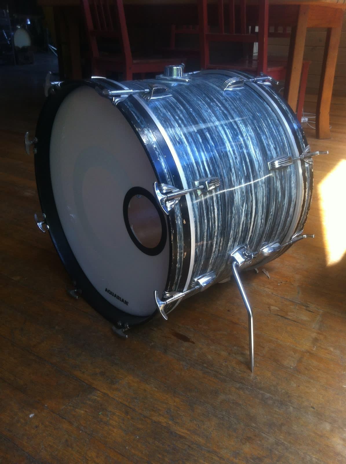 ludwig blue oyster 14x20 bass drum 1960 39 s reverb. Black Bedroom Furniture Sets. Home Design Ideas