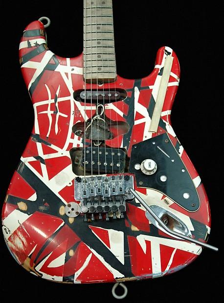 new fender evh frankenstein replica guitar only 300 made reverb. Black Bedroom Furniture Sets. Home Design Ideas