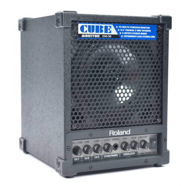 roland cm 30 cube monitor 30w reverb. Black Bedroom Furniture Sets. Home Design Ideas
