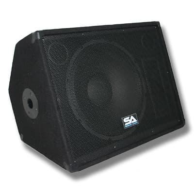 Pair 15 floor monitors stage studio pro pa dj speakers for 15 floor speakers