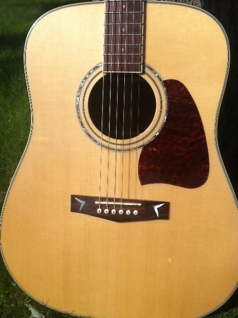 ibanez aw 300 artwood 6 string acoustic guitar bubinga back reverb. Black Bedroom Furniture Sets. Home Design Ideas