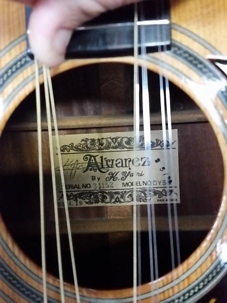 Yairi Alvarez 9 String Model Dy58 Acoustic Electric Guitar