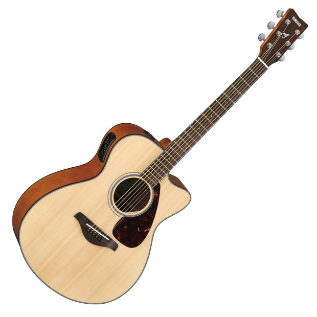 yamaha fsx800c small body acoustic electric guitar natural reverb. Black Bedroom Furniture Sets. Home Design Ideas