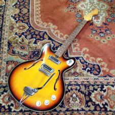 Teisco KEP-10T Sunburst Thinline Hollowbody Electric Guitar image
