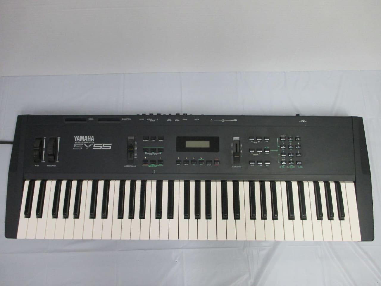 Yamaha sy55 vintage synthesizer keyboard midi piano reverb for Yamaha synthesizer keyboard