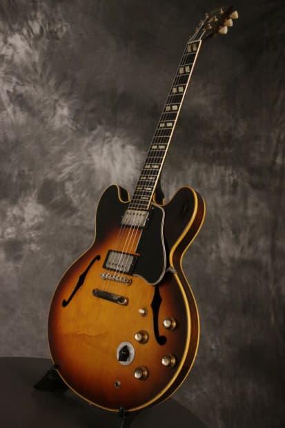 Gibson ES-345 w/factory Stop Tail + orig. PAF pickups 1962 Sunburst ...