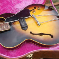 <p>Original one owner 1956 Gibson ES-225T, includes brown case for 1950&#039;s ES-335, and a 1959 GA-5 Amp</p>  for sale