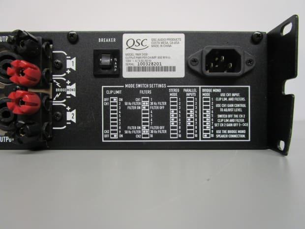 qsc audio rmx 2450 2 channel power amplifier for parts or reverb. Black Bedroom Furniture Sets. Home Design Ideas