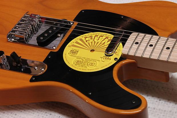 fender telecaster pickguard johnny cash sun records reverb. Black Bedroom Furniture Sets. Home Design Ideas