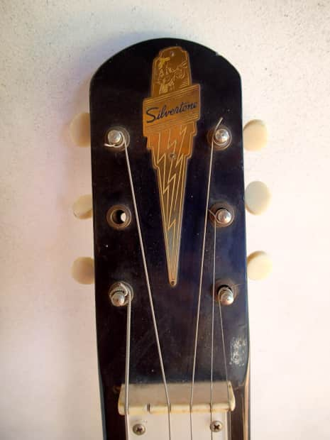 Silvertone lap steel 1960 black reverb for Loft 213 stone wrap