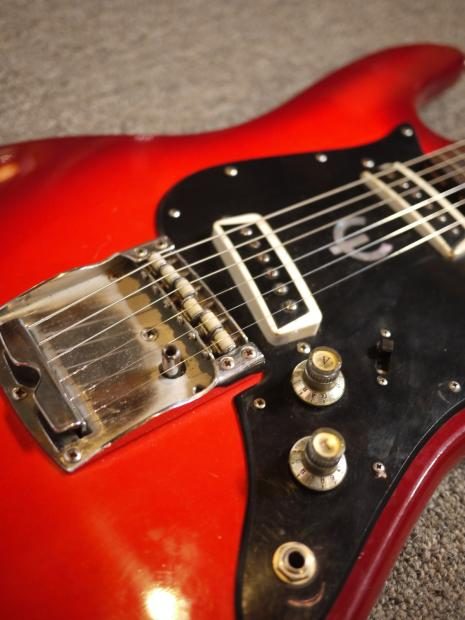 Epiphone Et 270 1970 S Red Burst With Upgrades Reverb