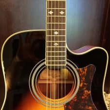 Epiphone DR500MCE Vintage Sunburst Masterbilt Acoustic Electric w/FREE Hardshell Case image
