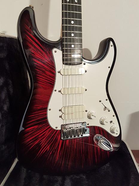 Fender Stratocaster Firestorm Red Ultra Strat 1991