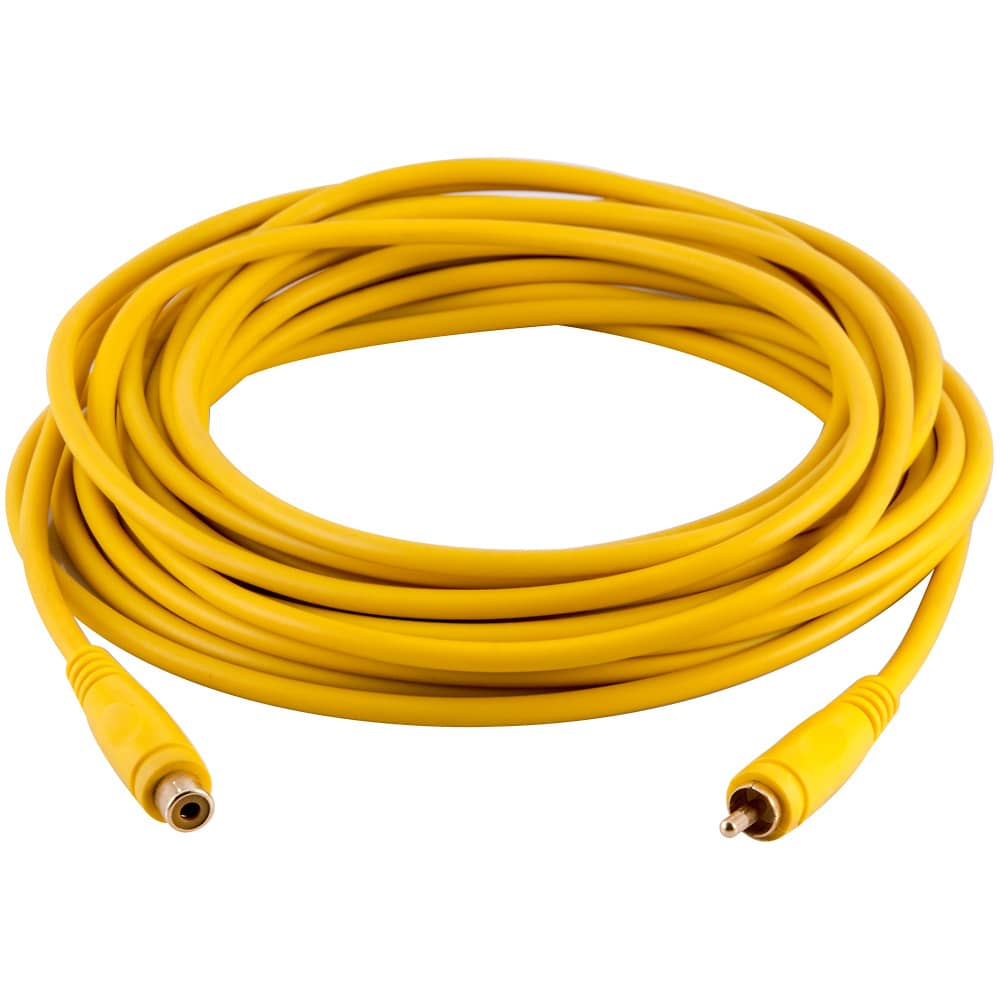 Rca Cable Extenders : Foot yellow rca male to female audio extension