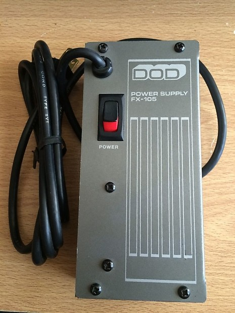 dod fx105 regulated power supply guitar effects pedals 9vdc reverb