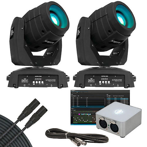 chauvet intimidator spot led 350 dmx lighting pair with. Black Bedroom Furniture Sets. Home Design Ideas