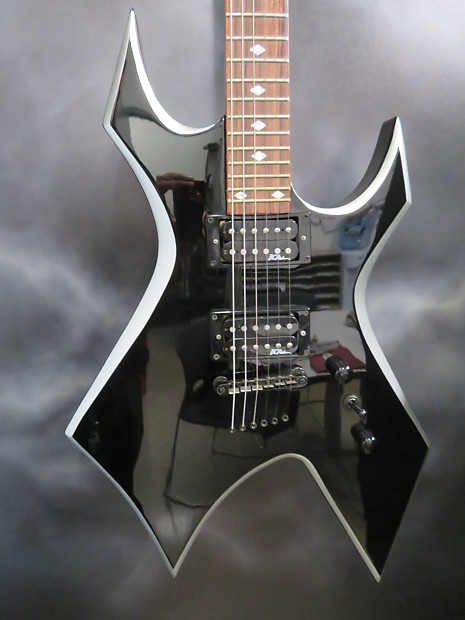 bc rich deluxe series warlock black with silver edges reverb. Black Bedroom Furniture Sets. Home Design Ideas
