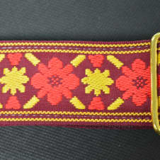 """New! Souldier Strap """"Tulip"""" Handmade Guitar Strap Free Shipping image"""
