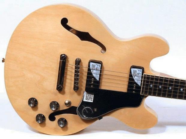 epiphone es 339 p90 pro semi hollowbody electric guitar natural reverb. Black Bedroom Furniture Sets. Home Design Ideas