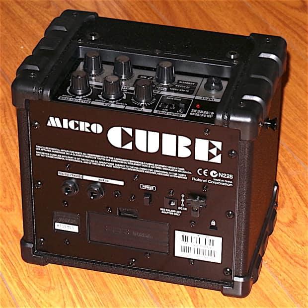 roland micro cube black guitar amplifier reverb. Black Bedroom Furniture Sets. Home Design Ideas