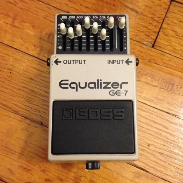 boss ge 7 graphic eq equalizer guitar pedal black label made in japan reverb. Black Bedroom Furniture Sets. Home Design Ideas