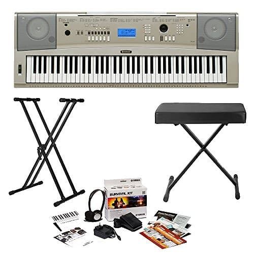 Yamaha ypg 235 portable keyboard 4 piece bundle reverb for Yamaha ypg 235 used