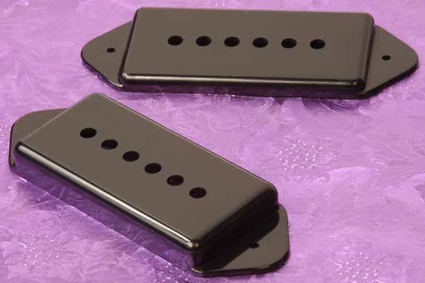 lindy fralin p90 dogear pickup covers for hollow body reverb. Black Bedroom Furniture Sets. Home Design Ideas