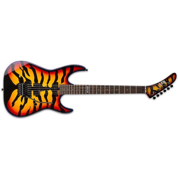 esp ltd george lynch gl 200 sunburst tiger graphic sbt electric guitar new free gig bag gl200. Black Bedroom Furniture Sets. Home Design Ideas