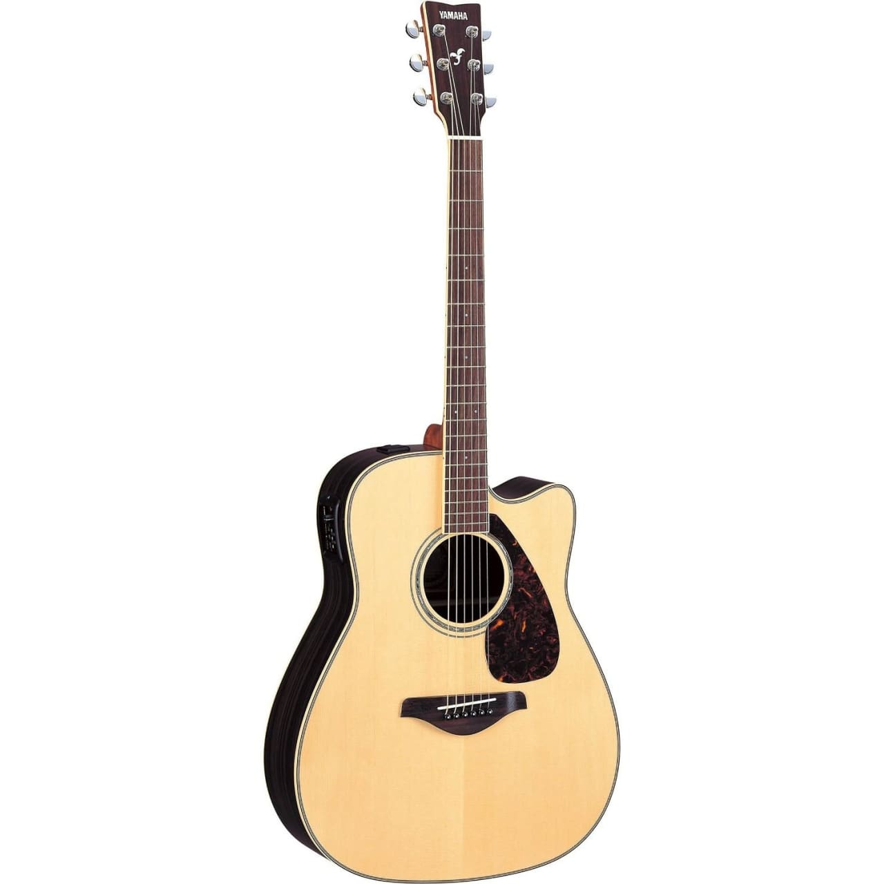 Yamaha fgx730sc solid spruce top acoustic electric guitar for Yamaha solid top