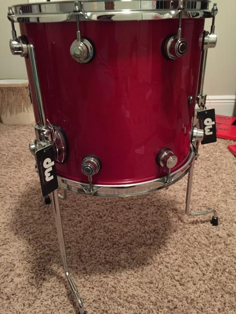 dw performance series 14x12 floor tom candy apple lacquer